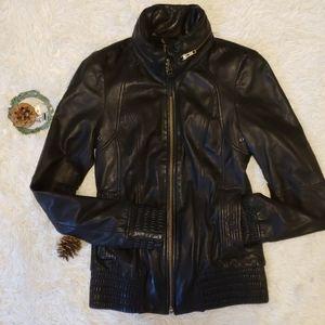 Mackage Lambskin Leather Jacket for Aritzia
